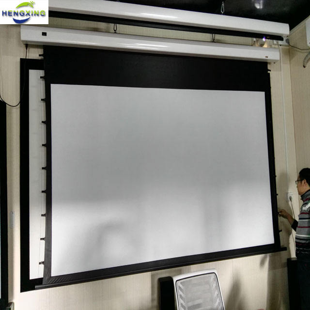 92-500 Inch Matte White Electric Projection Screen(projector Screen)