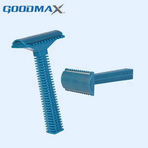 Custom medical cheap single blade double edge disposable plastic safety razor