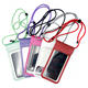 Transparent Phone Outdoor Waterproof Travel Drifting Pouch Water Resistant Transparent Phone Holder With Debosoed Logo