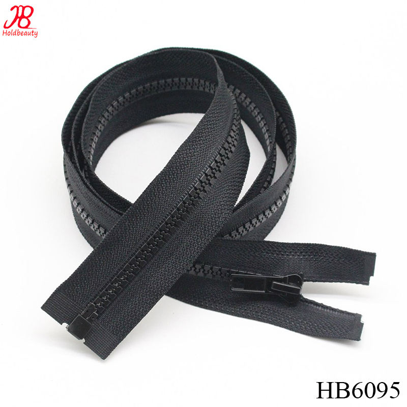 "2PCS #5 27 Inch Separating Jacket Zippers for Sewing Coats Jacket Zipper Black Molded Plastic Zippers Bulk (27"" 2pc)"