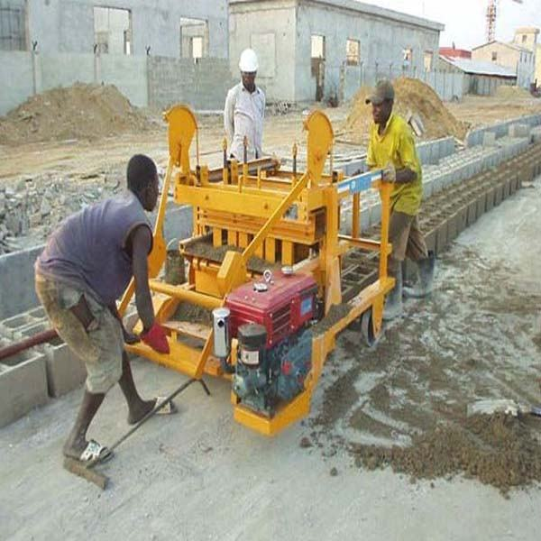 QM4-45 small diesel engine portable concrete block making machine,movable block machine, egg laying block