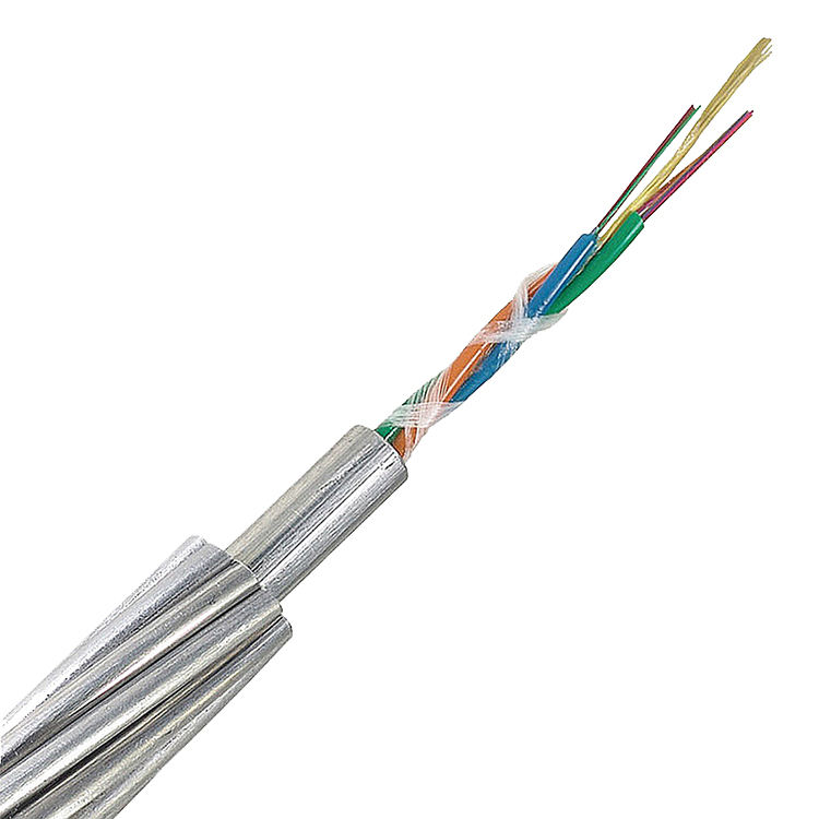 Overhead 힘 Ground Wire Stainless Steel 관 광 섬유 12 Core OPGW Cable