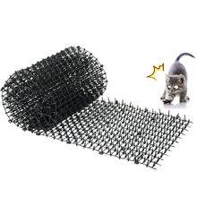 Garden Supplies Cat Scat Mat Plastic Prickle Anti Dog Deterrent Fence Spike Deter Dogs Keep Cat Off, Black
