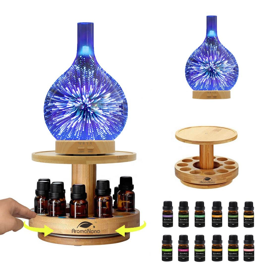 aromatherapy diffuser essential oil carousel bamboo diffuser holder
