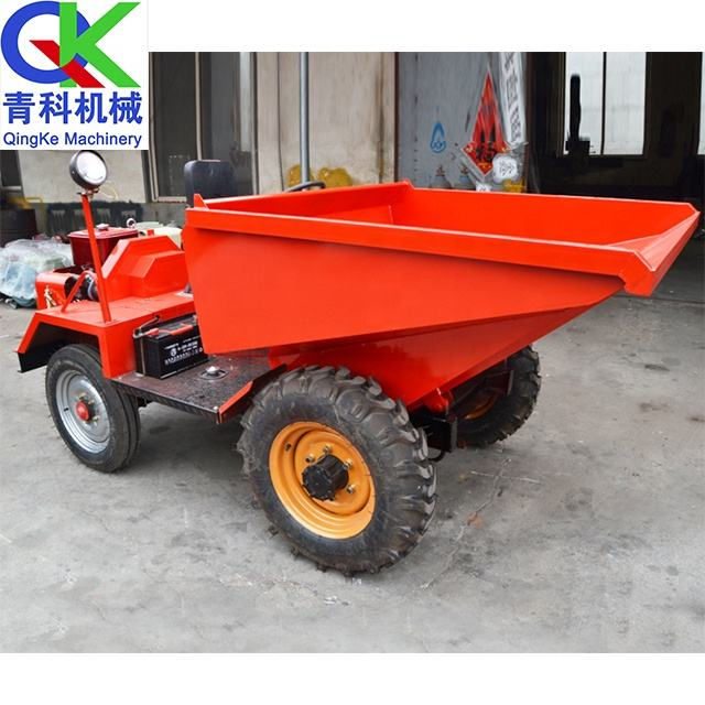 Construction Materia tilting cart Front hopper automatic feeding dumper Short transport dump car
