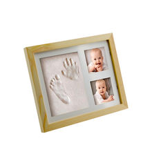 Gift Pack Handprint Clay Footprint Clay Letters Newborn Anniversary Souvenir  standing  baby clay photo frame