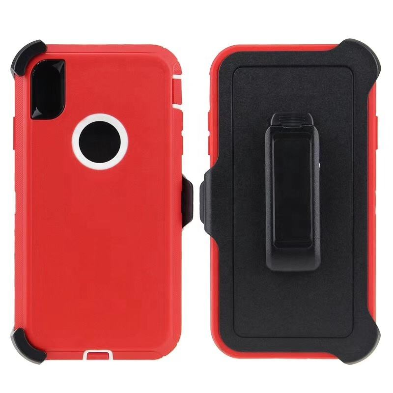 China Factory Good Price rugged robot defender anti-shock series cellphone case with belt clip for IPhone XR