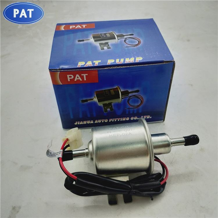 PAT Low Pressure Electric Fuel Pump 12V Gas Diesel Inline HEP-02A BHEP-02A For Car Carburetor Motorcycle ATV