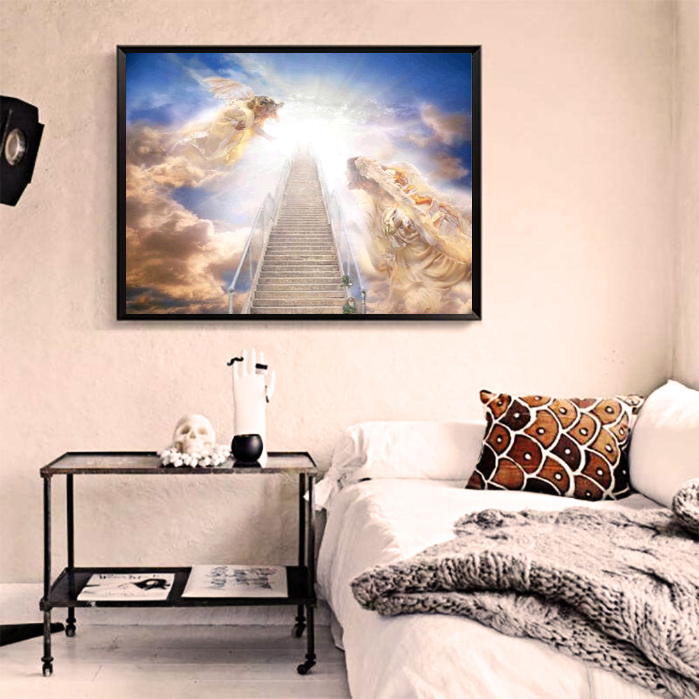 New Fashion Religious Diamond Painting Religion Through The Ladder In The Sky