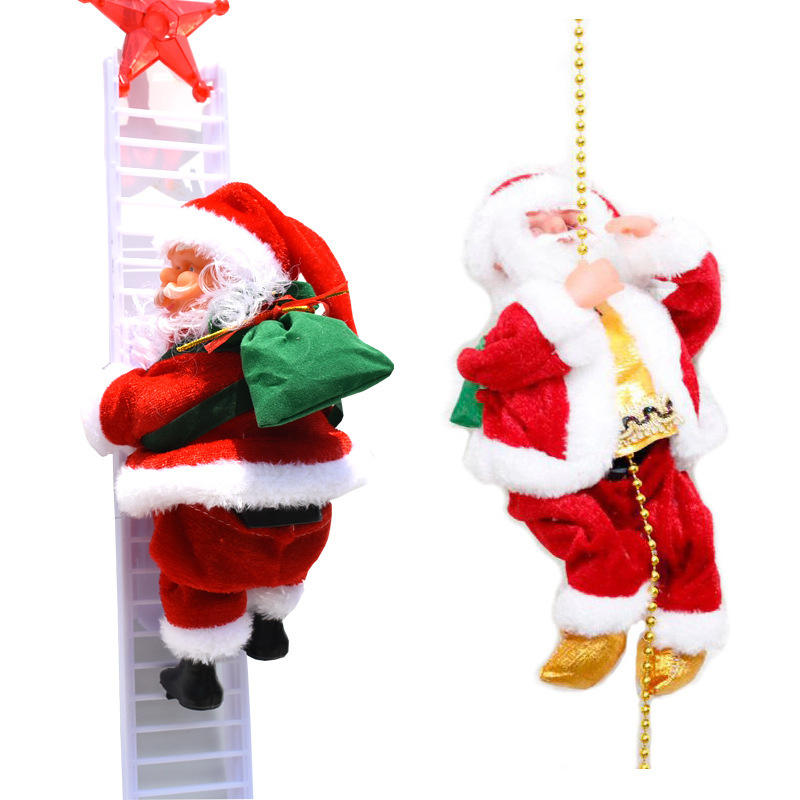 Electric dance & sing santa claus 2020 new christmas electric music santa claus doll gift riding deer children doll toy