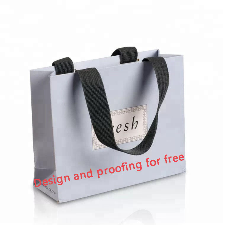 Luxury Famous Branded Recycled Custom Gift Shopping Paper Bag with logo