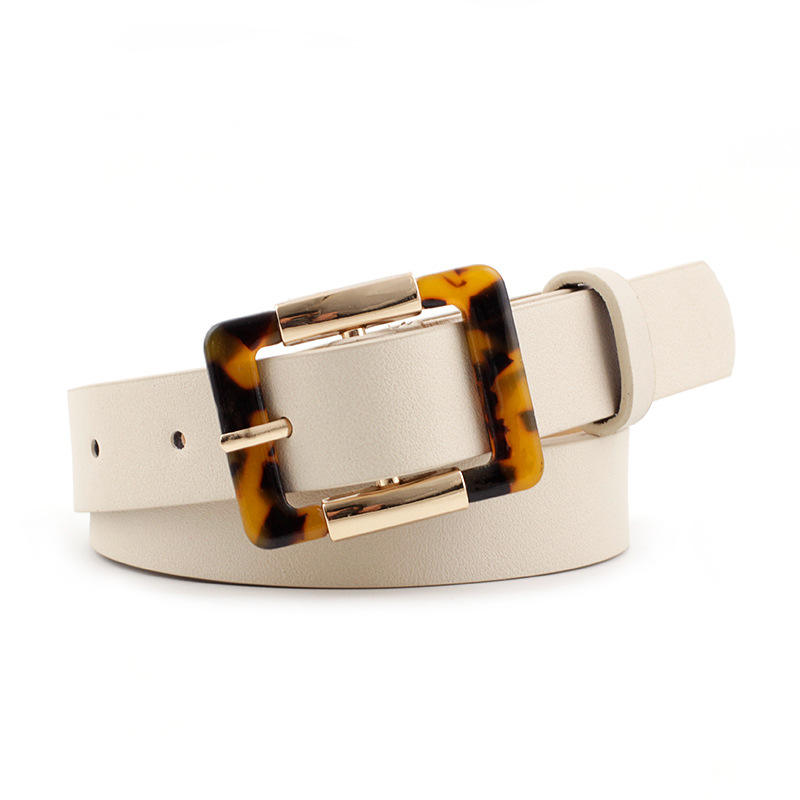 Fashionable needle buckle belt square buckle belt for women waistband