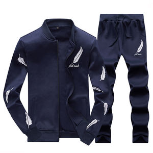 US size European sizestylish unique home travel casual sports suit 100% polyester casual sweat suits men sport track wear suit
