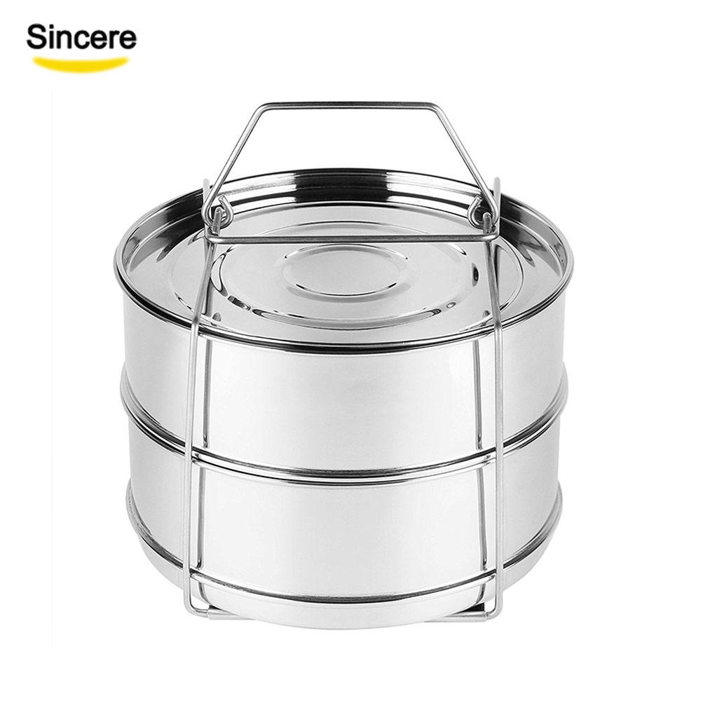 Instan Pot Stainless Steel Insert Pans Food Steamer for Pressure Cooker