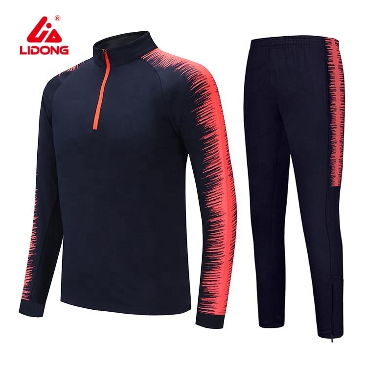 New Design Custom Sport Wear Running Training Polyester Mens Sweat Suit Designer Track Jogging Suit