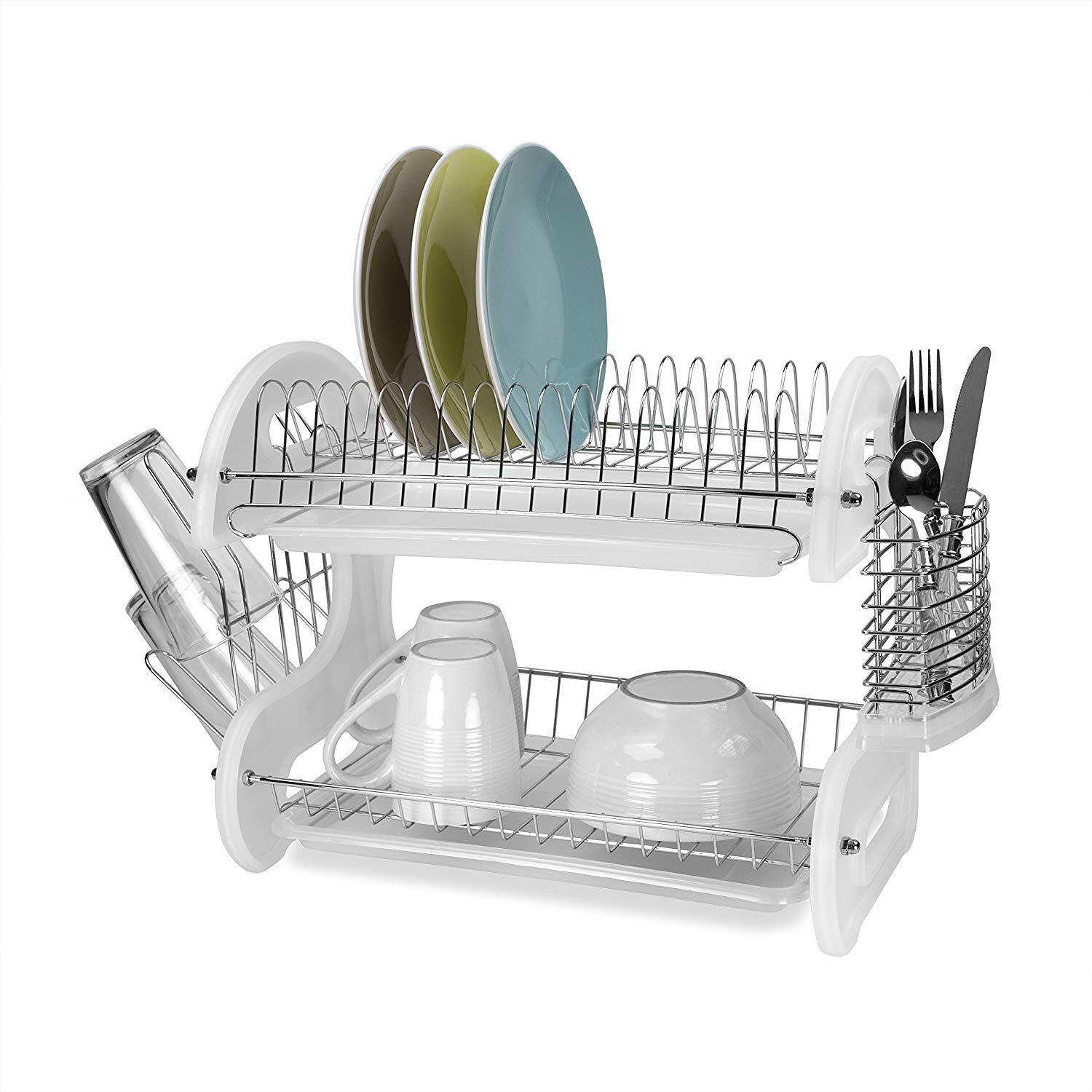 High Quality Countertop Dish Shelf Kitchen Storage Racks Applicable Space Save Rack Dish Bowl Over Sink Utensils Holder