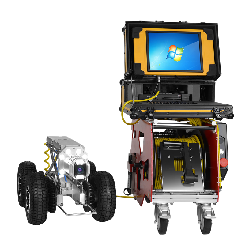 pipe inspection robot| 12.1 inches TFT display Pipe inspection rov underwater robot camera for No-Dig sewer detection