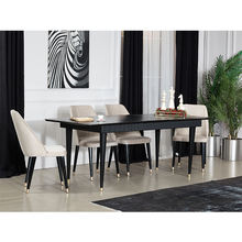 Modern Dining Room Table Set, Luxury Chairs , Black Color, High Quality, Best Price