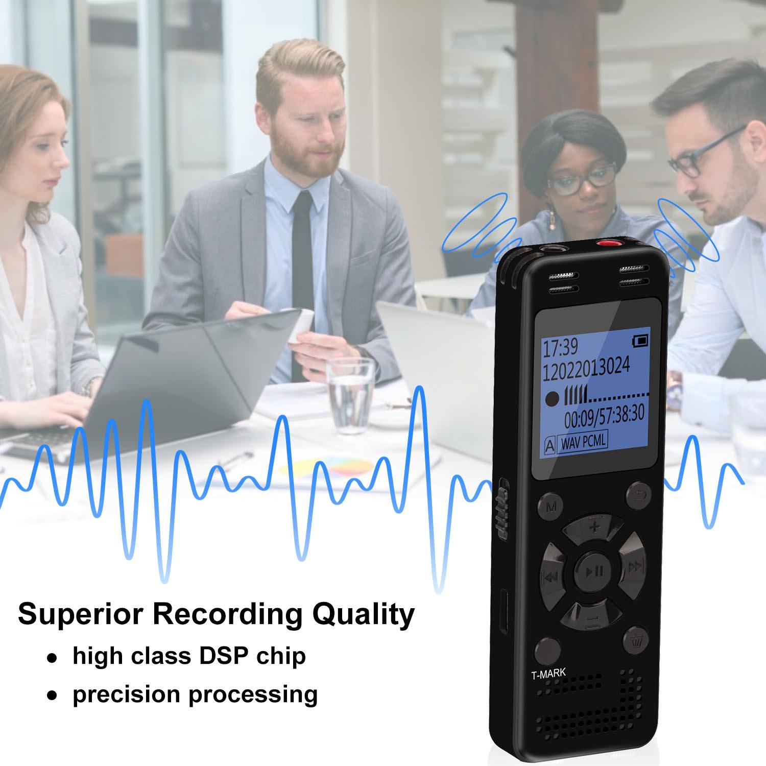 Aomago Amazon Hot Selling 32GB Sound Recording Device Professional Digital Voice Recorder for Record Voice