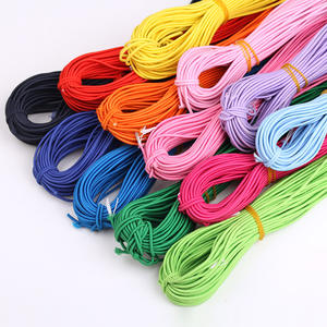 Colorful round polyester elastic cord 1mm 1.5mm 2mm 3mm braided elastic cords webbing band