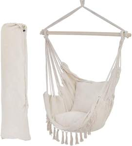 Cotton Netting White Garden Swing Hammock Chair