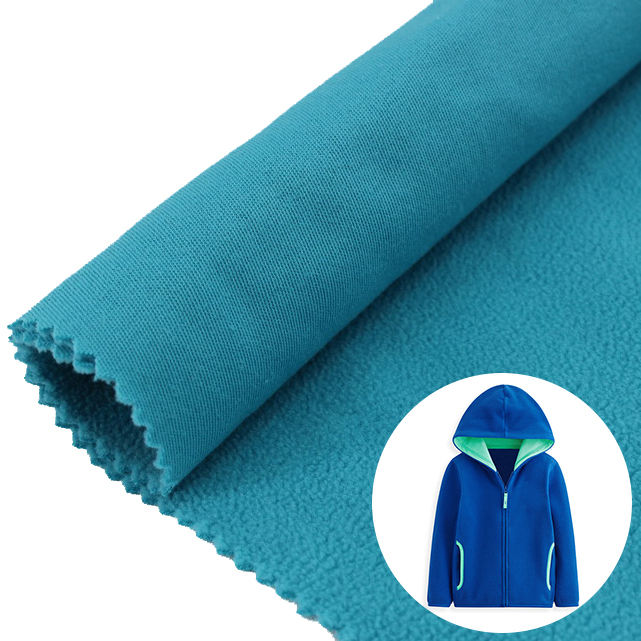 DTY 100% Polyester Polar Fleece Fabric Factory Cheapest 144F Brushed Sueded 100D/100D for Hoodie