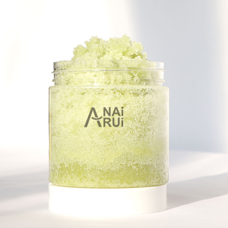 Private Label de Açúcar e Sal Do Mar de Chá <span class=keywords><strong>Verde</strong></span> Antioxidantes Matcha Face & Body Scrub Esfoliante Clareamento Whiteing
