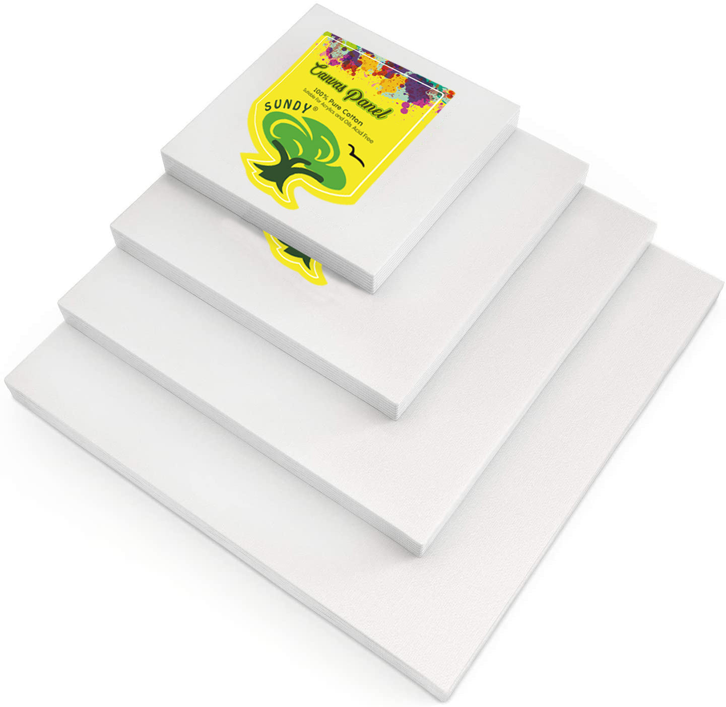 Artlicious cheap wholesale artist 100 blank cotton 8*10 inch art canvas panel boards for painting