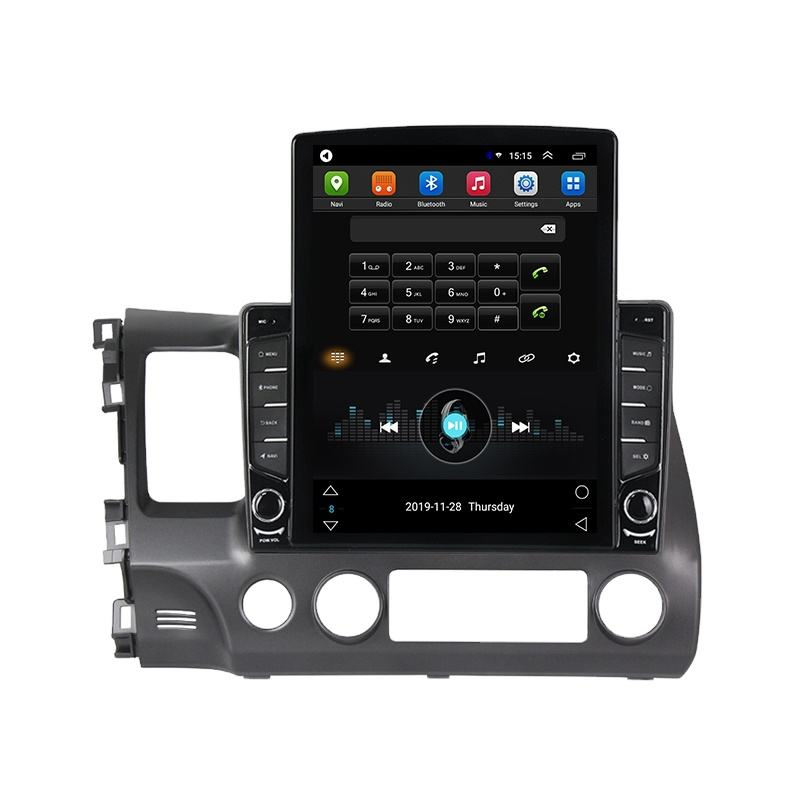 Navifly Android 9 2 32G Tesla Car Video Player For Civic 2006 2007 2008 2009 2010 2011 GPSナビゲーションマルチメディアステレオプレーヤー