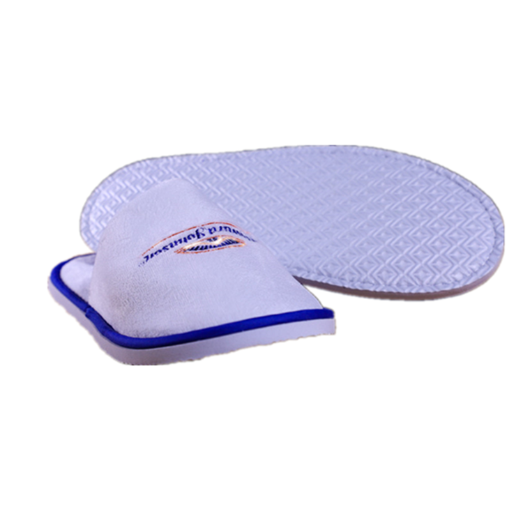 Hotel supplies amenities close toe disposable white hotel spa slippers