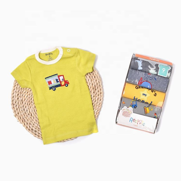 2020 Summer daily wear high quality cotton short sleeve baby t-shirt