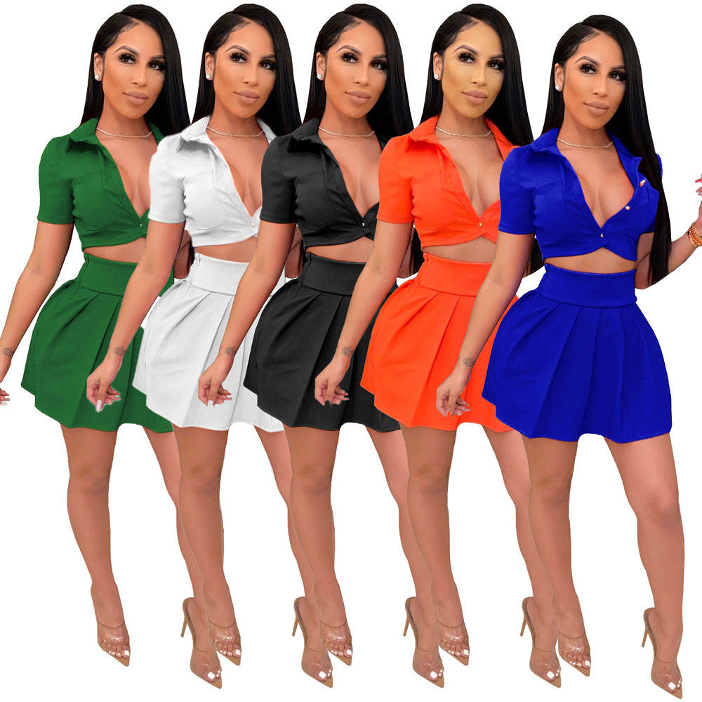 20501-MX1 sexy 2 piece sets pleated hot girls dresses sehe fashion