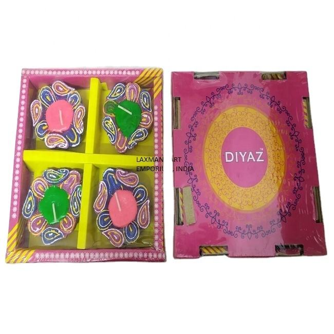 decorative clay diya pack candles