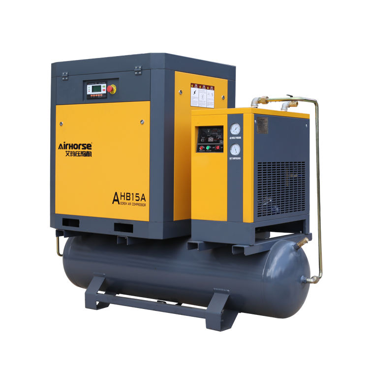 2020 Belt Driven Compressor Rotary Air Compressor 15 Hp 11kw 10bar 500l Tank Mount 3 Phase With Refrigerant Air Dryer