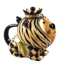 Good Price Cartoon Style Ceramic Teapot Lion Shape Home Decor Hand-painted Coffee Pot