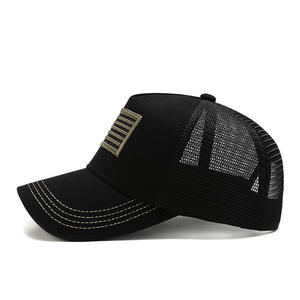 Wholesale 5 panel Mesh Mens Custom 3d Puff Embroidery trucker cap patch logo
