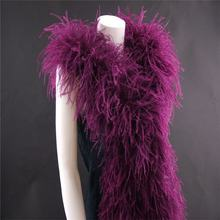 3 layers ostrich feather trim fabric feather boa chandelle boa for collar decoration