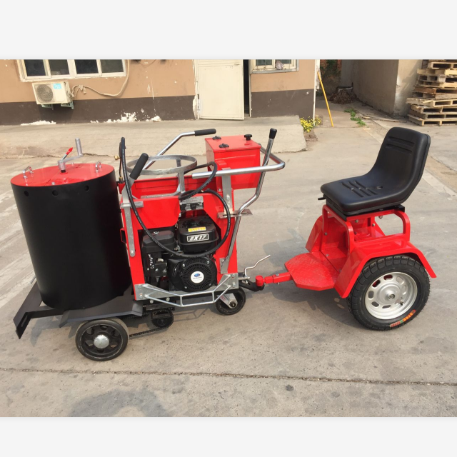 Driving Self-propelled Thermoplastic Road Marking Machine