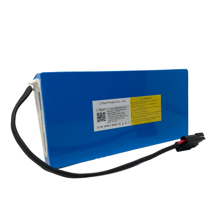 LiTech Power lithium li ion 36v 48v 60v 72v 10ah 20ah 30ah 40ah electric scooter e-bike unicycle battery pack OEM