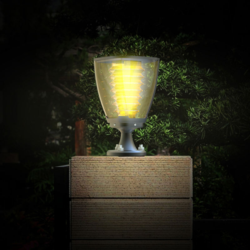 2021 post top fence solar lamp post solar light for pillar