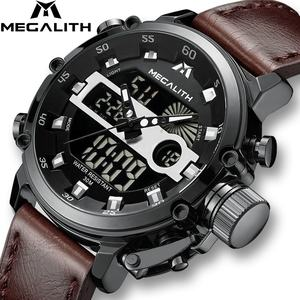 MEGALITH Fashion Men's LED Sport Quartz Watch Men Multifunction Waterproof Date Luminous Wrist Watches Men Clock Horloges Mannen