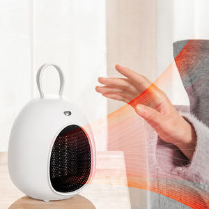 2021 New Arrival Winter 200W 500W Portable Mini Home Room PTC Ceramic Heater Fan Office AC 220V Electric Small Air Heater Fan