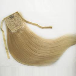 Beautiful fashion blonde Straight hair Double drawn virgin remy Brazilian drawstring human hair ponytail