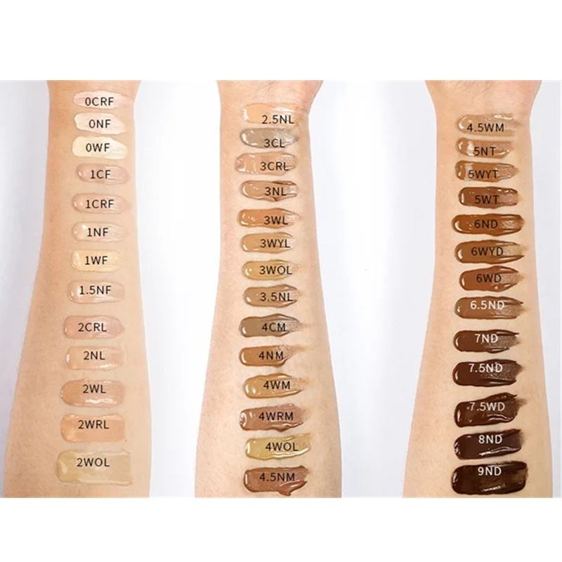 private label waterproof vegan matte foundation makeup 40colors liquid foundation