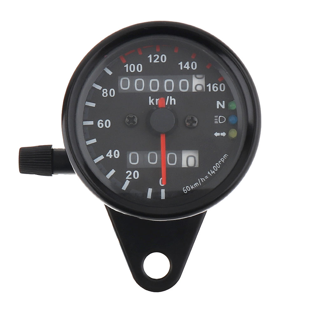 Motorcycle refitted small instrument motorcycle double odometer kilometer speedometer and speedometer