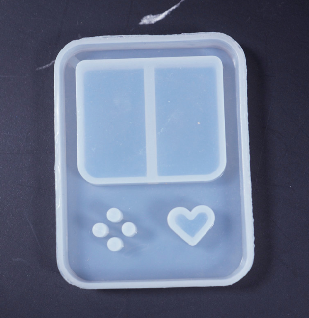 New Square consoles Shaker Molds Epoxy Resin Molds Key Chain Mold