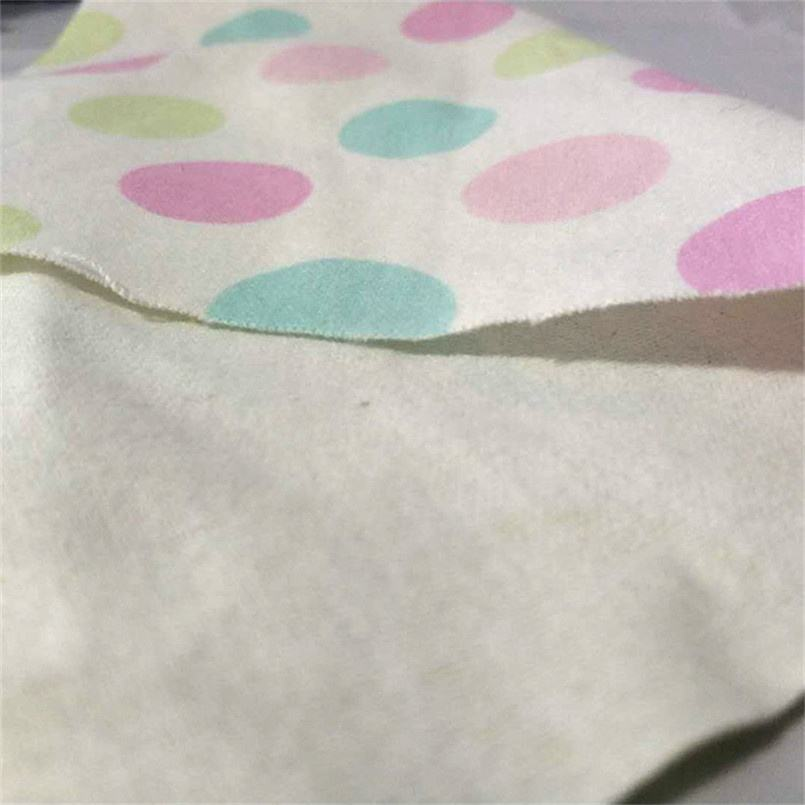 "Trade Assurance Fruit Pattern CVC pigment printed flannel fabric 32sx12s 40x42 57/58"" 120gsm for baby clothes"