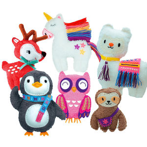 DIY 3D Handmade Sewing Cloth Plush Animal Doll Toys Soft Knitted Crochet Sewing Handcraft Cotton Doll Toys For Children Girl