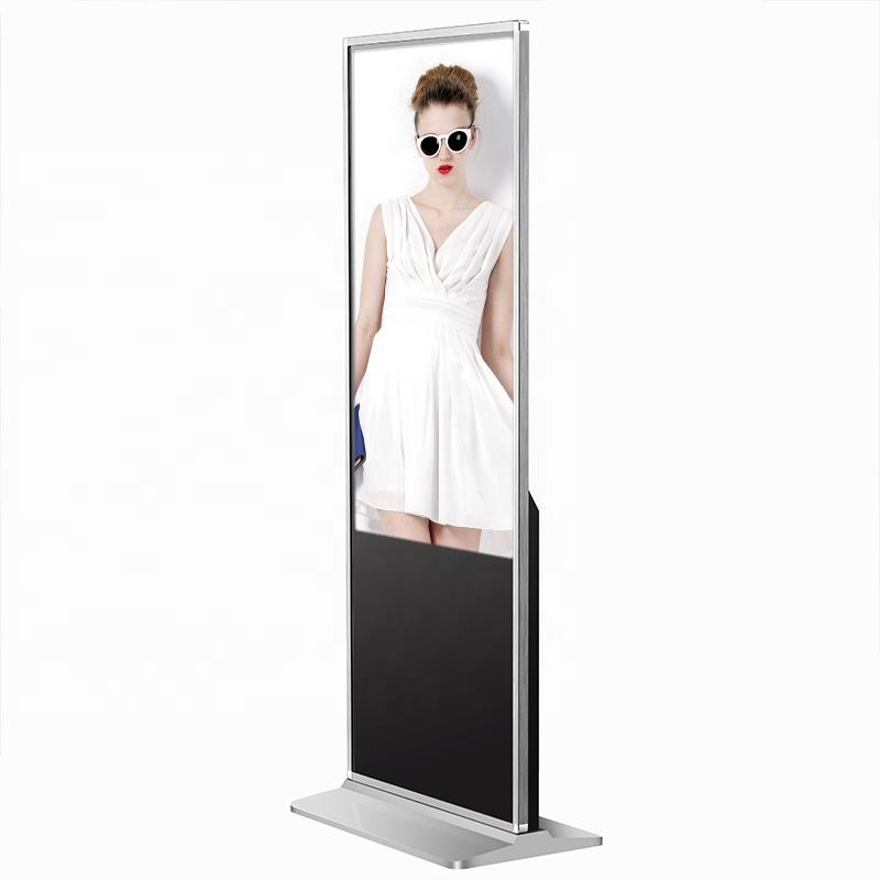 Shenzhen Price Big 3D Led Digital Signage 42 Inch Floor Stand Lcd Touch Display Advertising Screen