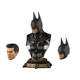Bat Super Hero 1/3 Scale Action Arkham Dark Knight Dawn of Justice Bust Collection Statue Figure W/3 heads IN STOCK